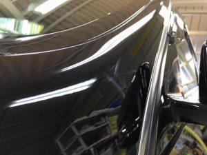 4メルセデスベンツE550・スタンダードコーティング(運転席側Aピラー)