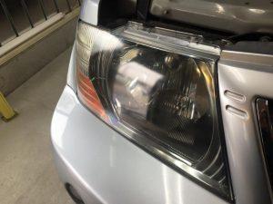7パジェロ・ヘッドライトクリーニング前(運転席側)