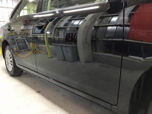 4アリオンのガラスコーティング・助手席側側面