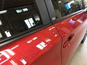 プリウスGz・プレミアムコーティング・運転席ドア付近