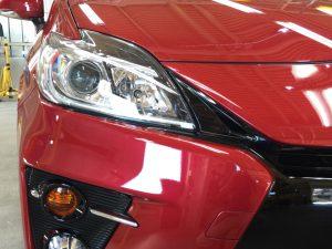 プリウスGz・プレミアムコーティング・運転席側ヘッドライト付近