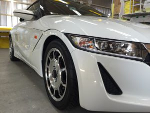 S660・エシュロンナノフィル・運転席側ヘッドライト