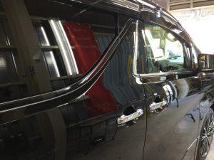 アルファード・窓ガラスコーティング・運転席側
