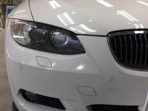 BMW3・リアルガラスコート・ヘッドライト周辺