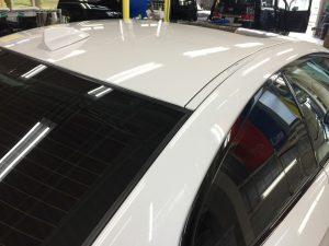 BMW3・リアルガラスコート・ルーフ周辺