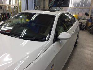 BMW3・リアルガラスコート・助手席側フェンダー周辺