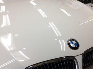 BMW3・リアルガラスコート後のボンネット2