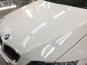 BMW3・リアルガラスコート後のボンネット3