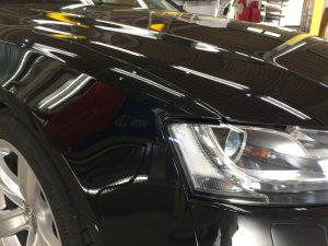 アウディA5・エシュロンゼンゼロ施工後・運転席側ヘッドライト