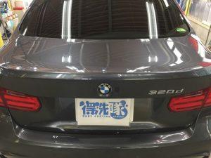BMW320dMスポーツ・プレミアムコーティング後のトランク