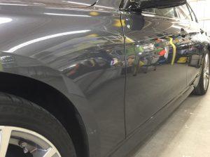BMW320dMスポーツ・プレミアムコーティング後の助手席側前方より