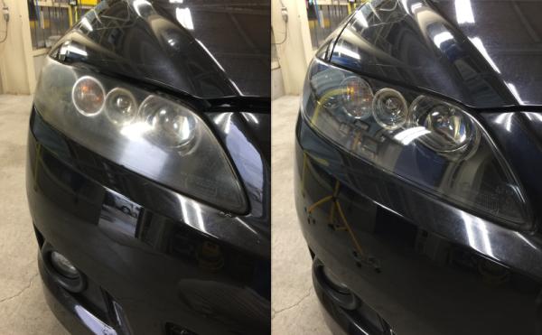 ヘッドライト磨きBefore&After