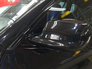 BMWX3・ジーゾックス・ハイドロフィニッシュ施工後の助手席側ドアミラー付近