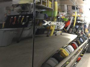 BMWX3・ジーゾックス・ハイドロフィニッシュ施工後の助手席側ドア