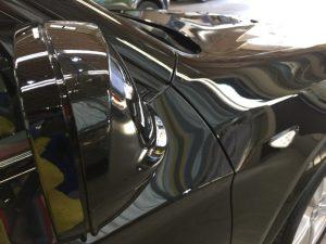 BMWX3・ジーゾックス・ハイドロフィニッシュ施工後の運転席側ドアミラー