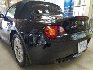 BMWZ4・プレミアムコーティング後の助手席側テール付近
