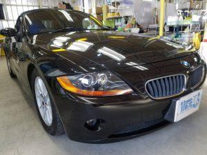 BMWZ4・プレミアムコーティング後の運転席側ヘッドライト付近
