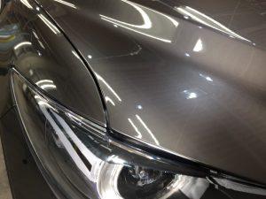 CX5・プレミアムコーティング・運転席側ヘッドライト上