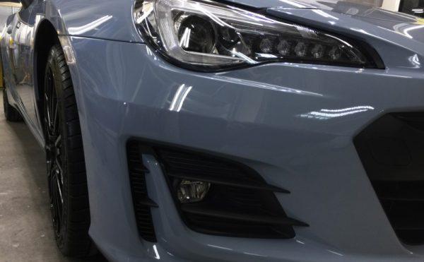 BRZ・エシュロン・ナノフィル施工後の運転席側ヘッドライト