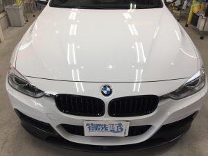 BMW3ツーリング・ハイドロフィニッシュ施工後のボンネット正面