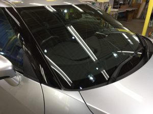 GT-R・クラリード施工後のフロントガラス