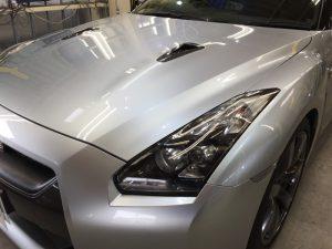 GT-R・ハイモースコート施工後のボンネット
