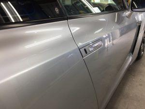 GT-R・ハイモースコート施工後の運転席ドア周り