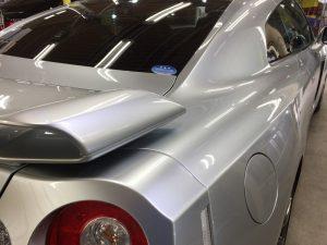 GT-R・ハイモースコート施工後の運転席側クォーターパネル周り