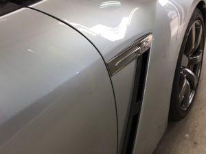 GT-R・ハイモースコート施工後の運転席側フェンダー周り