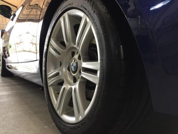 BMW3・ハイモースコート施工後の運転席側フロントタイヤ周り