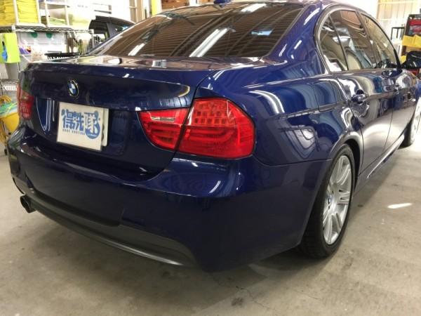 BMW3・ハイモースコート施工後のリア