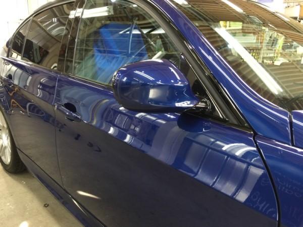 BMW3・ハイモースコート施工後の運転席ドア周り