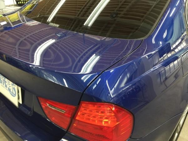 BMW3・ハイモースコート施工後のトランク周り