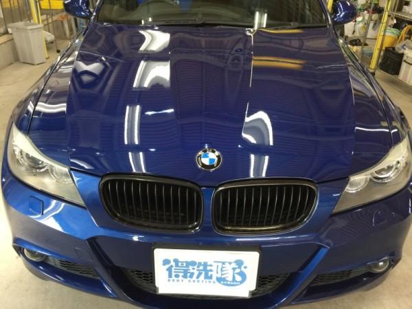 BMW3・ハイモースコート施工後のボンネット2