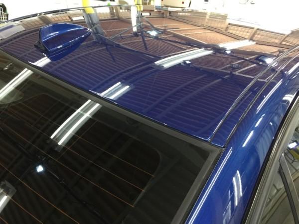 BMW3・ハイモースコート施工後のルーフ