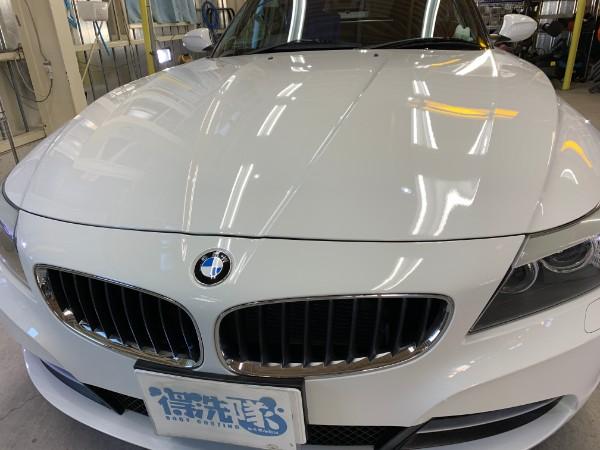 BMWZ4・スタンダードコーティング後のボンネット