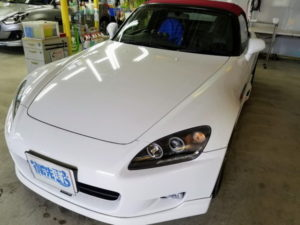 S2000・ヘッドライト研磨+コーティング