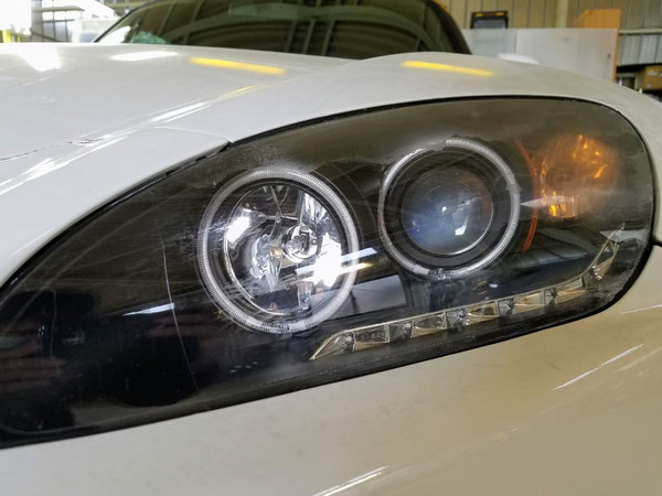S2000・ヘッドライト研磨+コーティング・作業前
