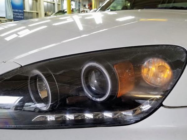 S2000・ヘッドライト研磨+コーティング2・作業前