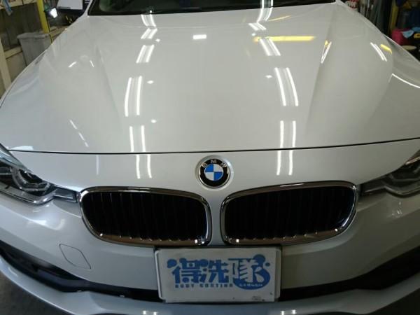 BMW3・スタンダードコーティング施工後の正面