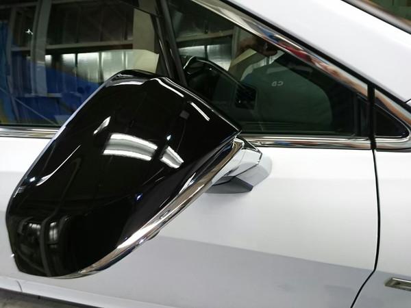 レクサスRX・プレミアムコーティング後の右ドアミラー