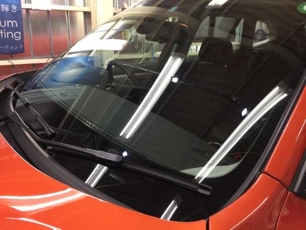 BMWX1・窓ガラスコーティング・フロントガラス