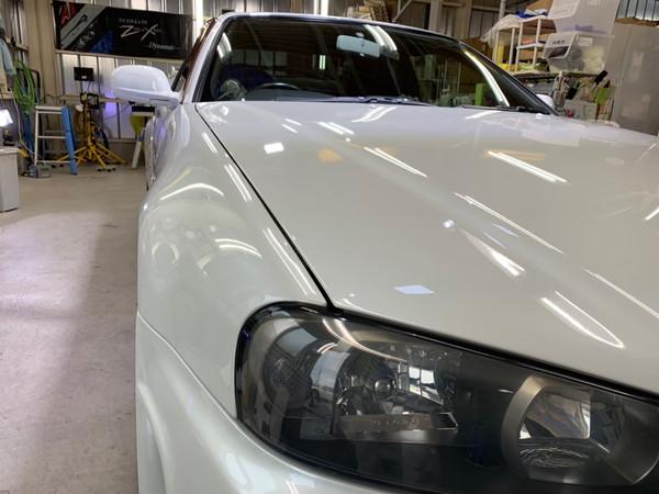 GT-R・ハイモースコート施工後のボンネット2