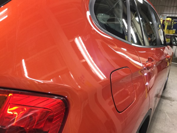 BMWX1・ボディコーティング後の右クォーター付近