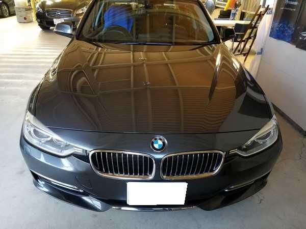 BMW3・窓枠メッキモールクリーニング&コーティング