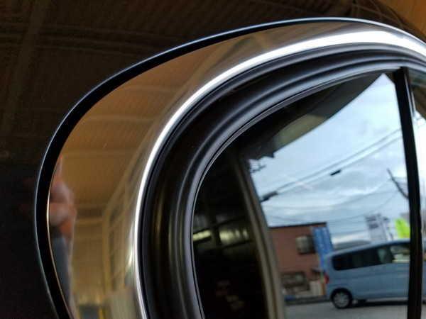 BMW3・窓枠メッキモールクリーニング&コーティング作業後の運転席側後方ドア